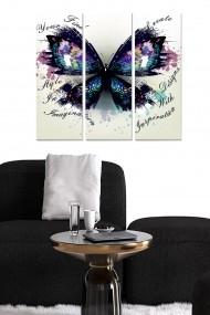 Tablou decorativ (set 3 piese) Bianca 553BNC2985 multicolor