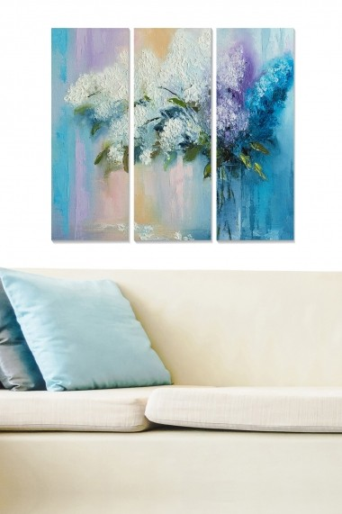 Tablou decorativ (set 3 piese) Bianca 553BNC2990 multicolor
