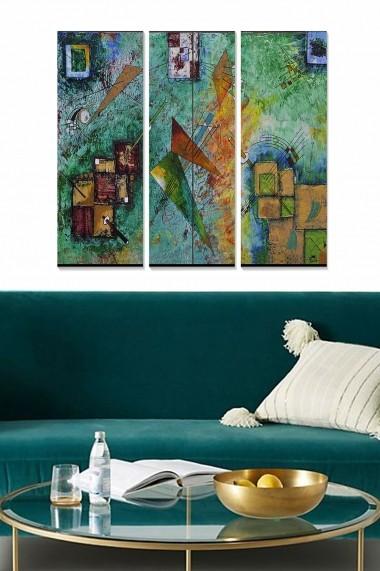 Tablou decorativ (set 3 piese) Bianca 553BNC2991 multicolor