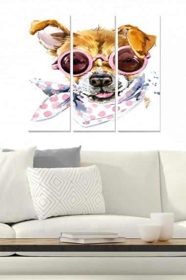 Tablou decorativ (set 3 piese) Bianca 553BNC3105 multicolor
