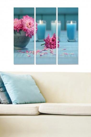 Tablou decorativ (set 3 piese) Bianca 553BNC3107 multicolor