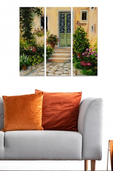 Tablou decorativ (set 3 piese) Bianca 553BNC3115 multicolor