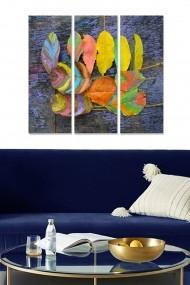 Tablou decorativ (set 3 piese) Bianca 553BNC3116 multicolor