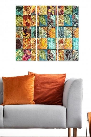 Tablou decorativ (set 3 piese) Bianca 553BNC3117 multicolor