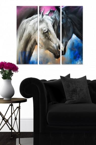 Tablou decorativ (set 3 piese) Bianca 553BNC3122 multicolor