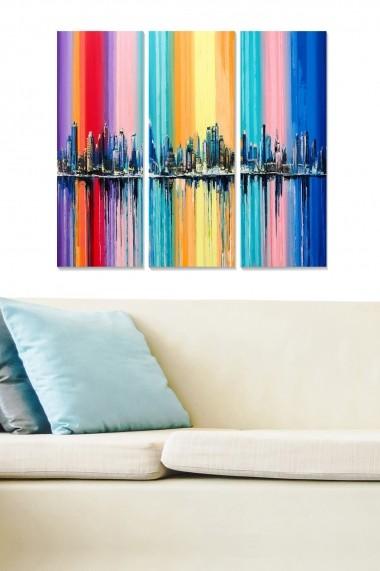 Tablou decorativ (set 3 piese) Bianca 553BNC3137 multicolor