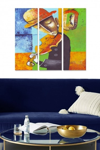 Tablou decorativ (set 3 piese) Bianca 553BNC3147 multicolor