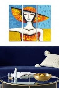 Tablou decorativ (set 3 piese) Bianca 553BNC3165 multicolor