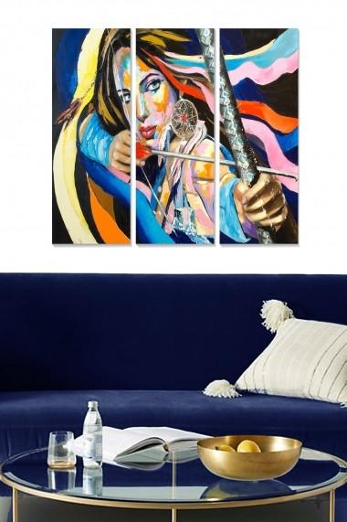 Tablou decorativ (set 3 piese) Bianca 553BNC3172 multicolor