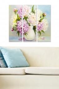 Tablou decorativ (set 3 piese) Bianca 553BNC3184 multicolor