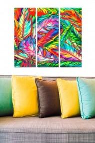 Tablou decorativ (set 3 piese) Bianca 553BNC3186 multicolor