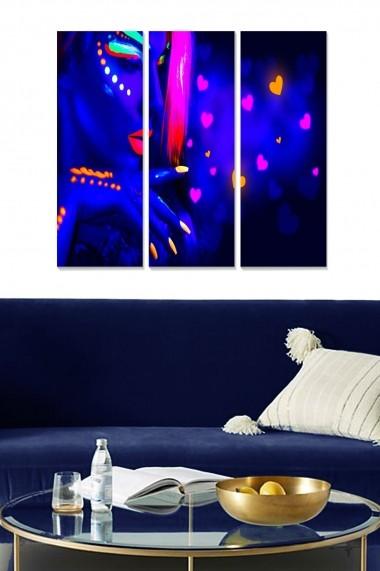 Tablou decorativ (set 3 piese) Bianca 553BNC3196 multicolor
