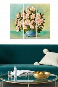 Tablou decorativ (set 3 piese) Bianca 553BNC3197 multicolor