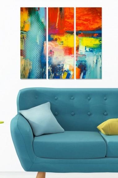 Tablou decorativ (set 3 piese) Bianca 553BNC3207 multicolor