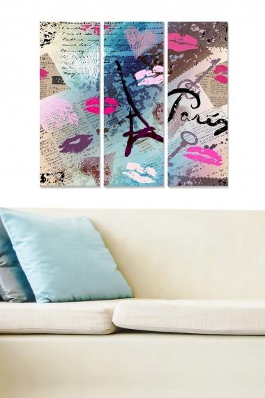 Tablou decorativ (set 3 piese) Bianca 553BNC3211 multicolor
