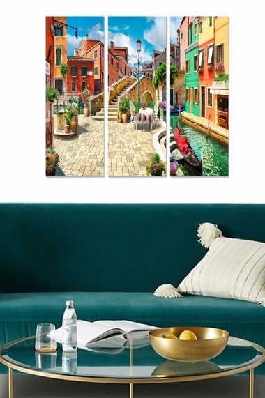 Tablou decorativ (set 3 piese) Bianca 553BNC3217 multicolor