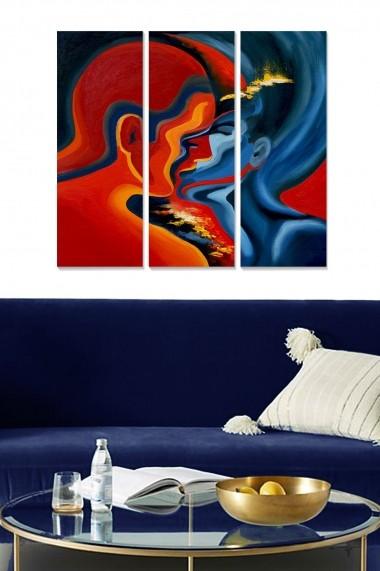 Tablou decorativ (set 3 piese) Bianca 553BNC3218 multicolor