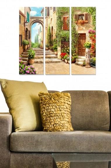 Tablou decorativ (set 3 piese) Bianca 553BNC3222 multicolor