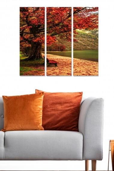 Tablou decorativ (set 3 piese) Bianca 553BNC3227 multicolor