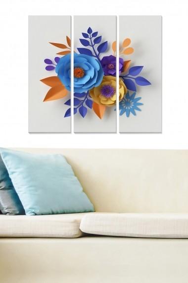 Tablou decorativ (set 3 piese) Bianca 553BNC3234 multicolor