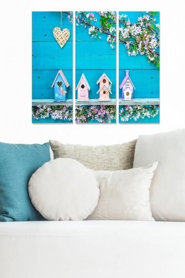 Tablou decorativ (set 3 piese) Bianca 553BNC3241 multicolor