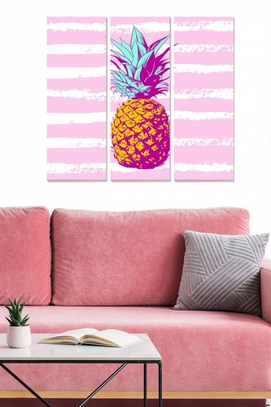 Tablou decorativ (set 3 piese) Bianca 553BNC3242 multicolor