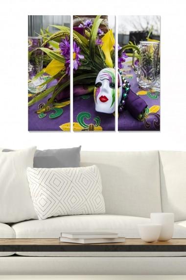 Tablou decorativ (set 3 piese) Bianca 553BNC3255 multicolor