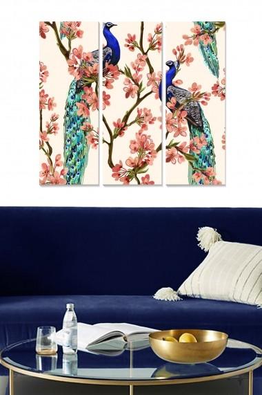Tablou decorativ (set 3 piese) Bianca 553BNC3257 multicolor