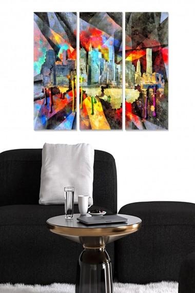 Tablou decorativ (set 3 piese) Bianca 553BNC3280 multicolor
