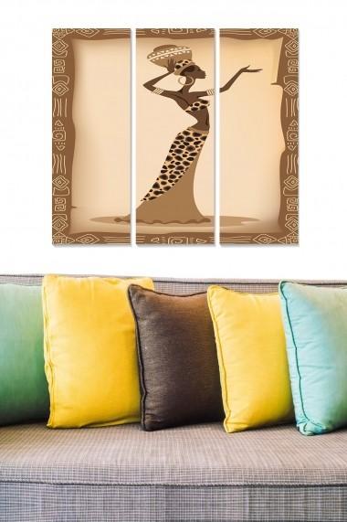 Tablou decorativ (set 3 piese) Bianca 553BNC3285 multicolor