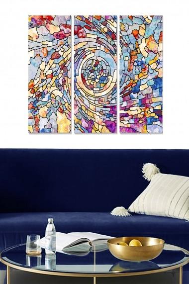 Tablou decorativ (set 3 piese) Bianca 553BNC3288 multicolor