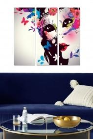 Tablou decorativ (set 3 piese) Bianca 553BNC3290 multicolor