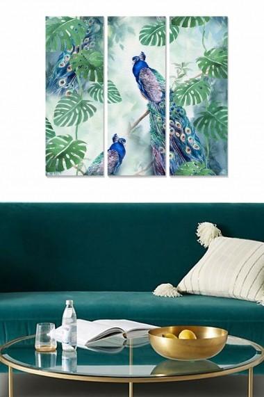 Tablou decorativ (set 3 piese) Bianca 553BNC3305 multicolor
