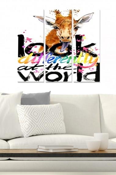 Tablou decorativ (set 3 piese) Bianca 553BNC3309 multicolor