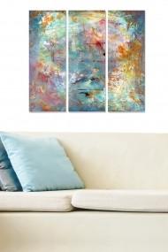 Tablou decorativ (set 3 piese) Bianca 553BNC3313 multicolor