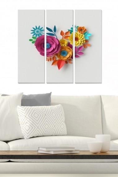 Tablou decorativ (set 3 piese) Bianca 553BNC3314 multicolor