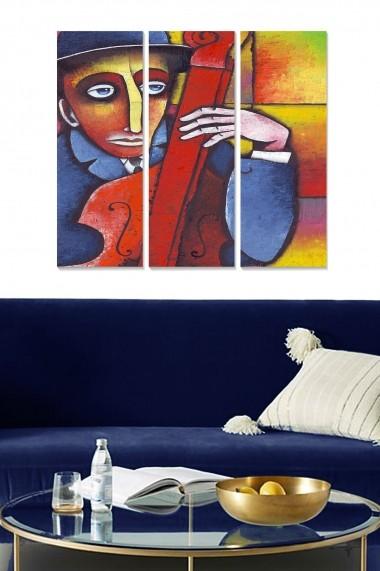 Tablou decorativ (set 3 piese) Bianca 553BNC3324 multicolor