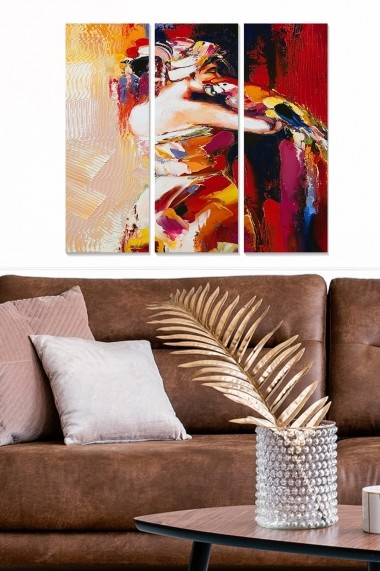 Tablou decorativ (set 3 piese) Bianca 553BNC3340 multicolor