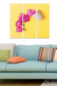 Tablou decorativ (set 3 piese) Bianca 553BNC3348 multicolor