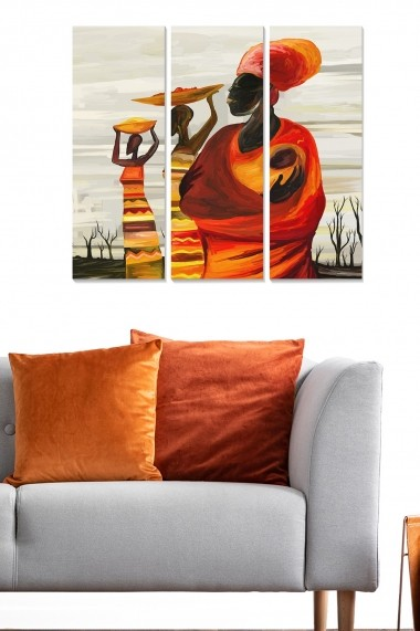 Tablou decorativ (set 3 piese) Bianca 553BNC3360 multicolor