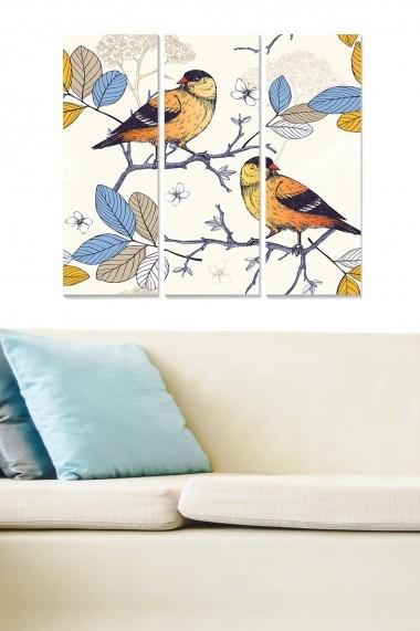 Tablou decorativ (set 3 piese) Bianca 553BNC3372 multicolor