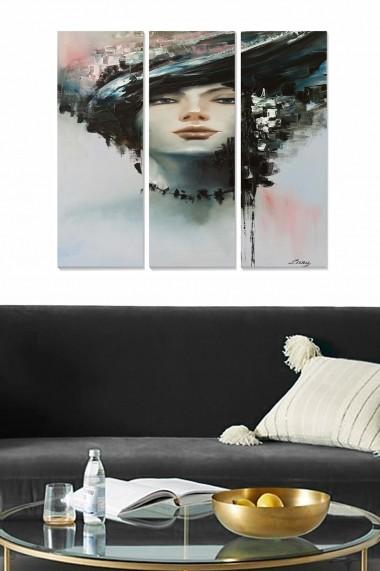 Tablou decorativ (set 3 piese) Bianca 553BNC3385 multicolor
