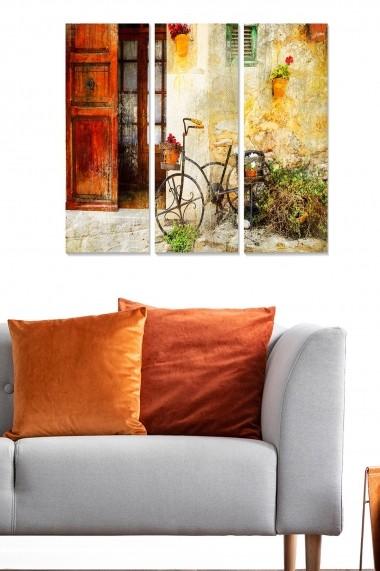 Tablou decorativ (set 3 piese) Bianca 553BNC3401 multicolor