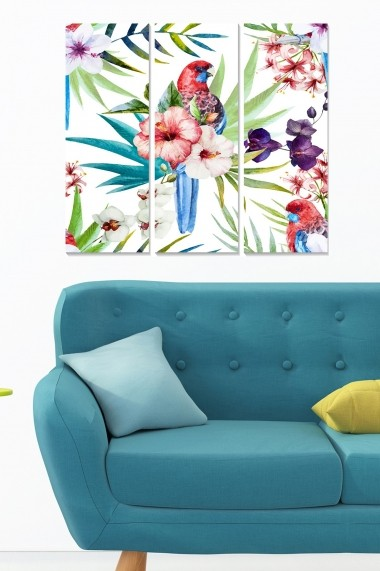 Tablou decorativ (set 3 piese) Bianca 553BNC3406 multicolor