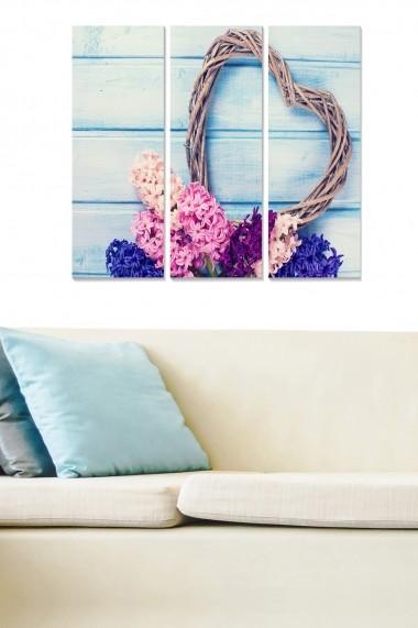 Tablou decorativ (set 3 piese) Bianca 553BNC3408 multicolor