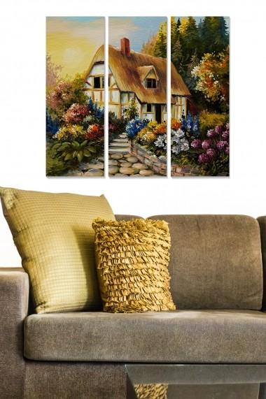 Tablou decorativ (set 3 piese) Bianca 553BNC3412 multicolor