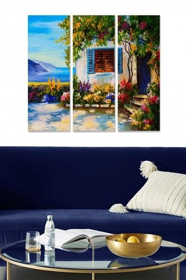 Tablou decorativ (set 3 piese) Bianca 553BNC3416 multicolor