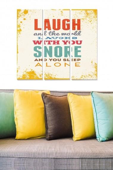 Tablou decorativ (set 3 piese) Bianca 553BNC3440 multicolor