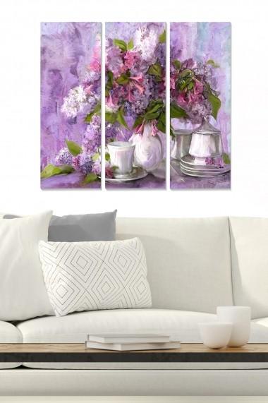 Tablou decorativ (set 3 piese) Bianca 553BNC3450 multicolor
