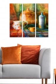 Tablou decorativ (set 3 piese) Bianca 553BNC3451 multicolor